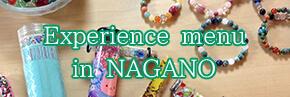 Experience menu in NAGANO
